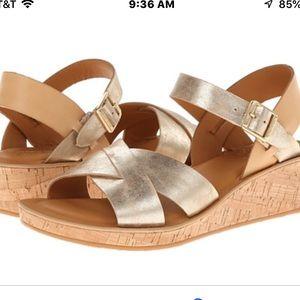Kork- Ease Myrna sandals Oro gold size 8